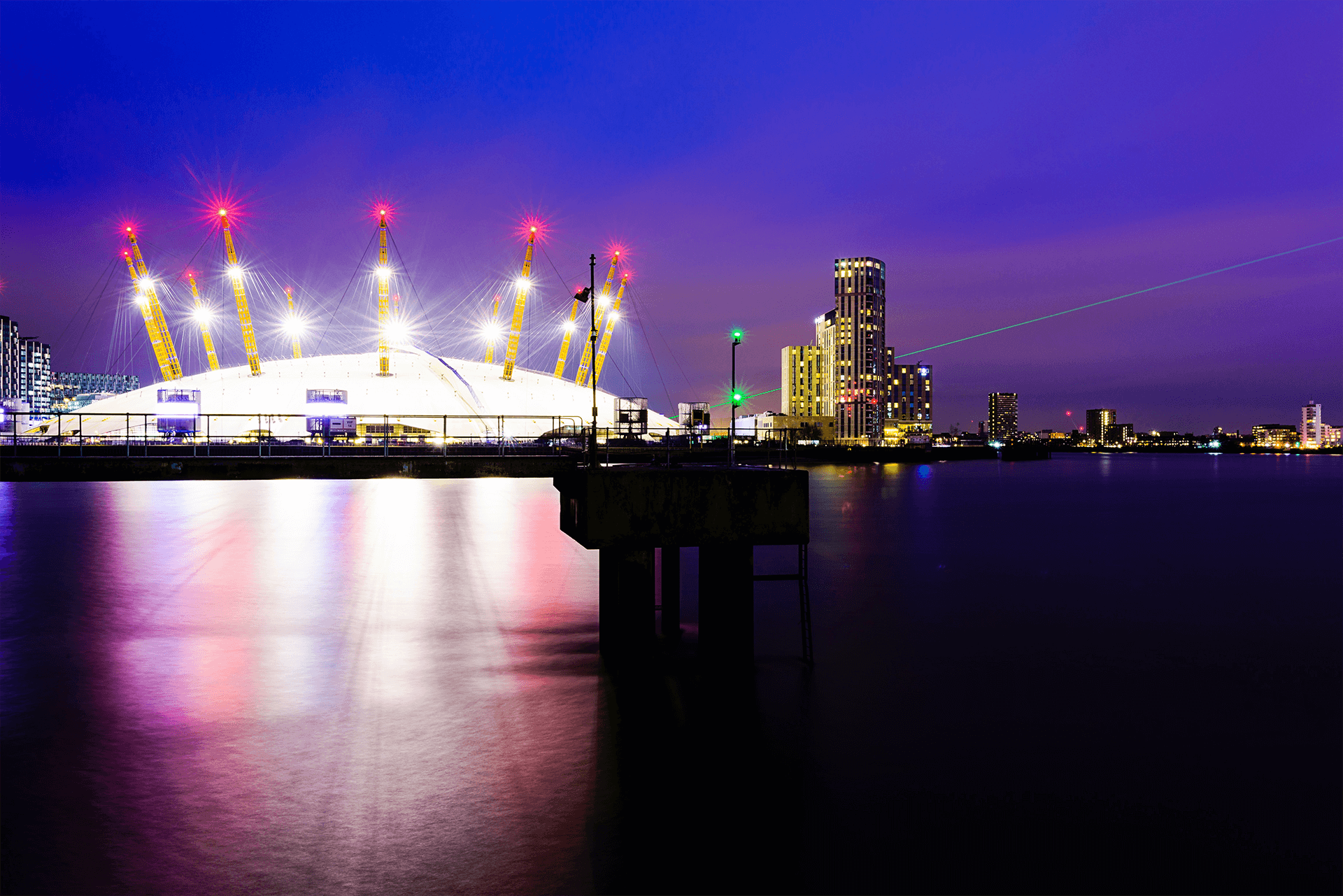 The O2 Arena first venue in the world to use Alpha 311 turbines